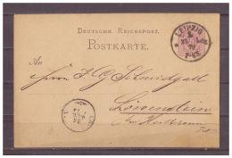 Deutsches Reich, Ganzsache P 5  I/01 Leipzig Nach Löwenstein 25.01.1879