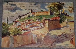 PRIZREN 1914. VUE DU CHÂTEAU DE PRIZREN, KOSOVO, KOSOVA, KOSOVË, RARE ORIGINAL OLD POSTCARD - Kosovo