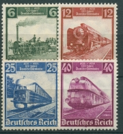 Deutsches Reich 1935 100 Jahre Deutsche Eisenbahn 580/83 Mit Falz