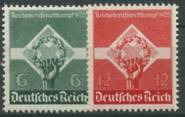 Deutsches Reich 1935 Reichsberufswettkampf 571/72 X Mit Falz