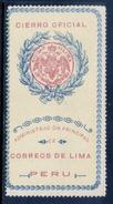 PERU    -    Cierre Oficial    -    N S Goma -            PER-7207