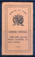 PERU    -    Cierre Oficial    -    M L H -            PER-7209