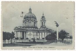 TO65 !!! TORINO CHIESA REALE DI SUPERGA E MONUMENTO A UMBERTO I° 1914 F.P. !!! - Churches