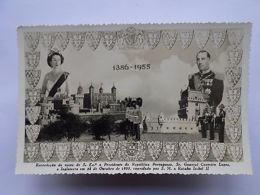 PC 1955 Visit PORTUGAL PR CRAVEIRO LOPES UK LONDON ENGLAND QUEEN ELIZABETH II Z1