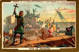 1 Chromos Abimé Chocolat Aiguebelle -  Moment  D Histoire - Bill-395 - R/V - Aiguebelle