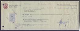 DENMARK - Bill Of Exchange Document, 1 Korona Revenue Stamp Tied On It. 1973 - Revenue Stamps