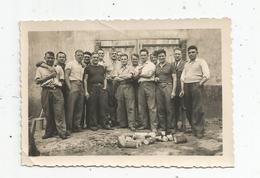 Photographie , 6 X 9 , Hommes , Aprés La Coupe Du Bois - Anonymous Persons