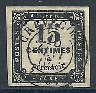 FRANCE - TAXE N° 3  - Oblitéré CREVECOEUR -  COTE YT : 15 E - Segnatasse