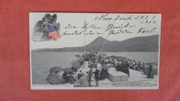 Sugar Loaf Hill From The Promenade Deck  Hudson River Steamer     Ref --2499 - Steamers