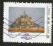 Timbre Personnalisé Collector Oblitéré Mont St Michel Monde 20g - Collectors