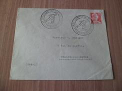 Pli Circulé Grenoble Pour Châlon Le 1011C Seul Cachets XXXIIIème Championnat De France De Boules Grenoble Le 5/9/1959 TB