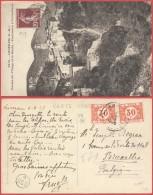 AK302 Carte Postale Taxée De Luceram France à Bruxelles 1925