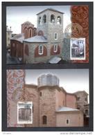 5.- GREECE 2012. FIVE MAXIMUN CARDS.  AGION OROS ATHOS. CATHOLIC MONASTERIES.