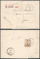 AK330 Lettre Recommandée De Dinant à Yvoir 1913