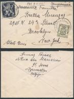 AK331 Lettre De Bruxelles à New York 1947