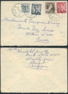 AK332 Lettre De Nimy à Oex Suisse 1958