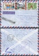 AK350 Lettre Expres De Gisenyi Rwanda Vers Bruxelles 1988 Via Kigali