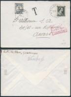 AK362 Lettre Taxée De Galmaarden à Anvers 1941