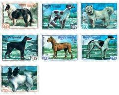 Ref. 54098 * MNH * - CAMBODIA KAMPUCHEA. 1987. PEDIGREE DOGS . PERROS DE RAZA