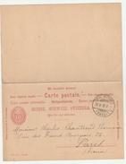 Biel Transit 1906 Sur Carte Entier Avec Réponse - Ganzsache Mit Antwort