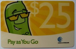 CAYMAN ISLANDS - Pay As You Go - Green Telephone - $25 - VF Used - Cayman Islands