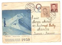 Tchécoslovaquie Liberec Coupe Tatry 1950 Rare Entier Postal Stationery Esperanto Tatransky Pohar