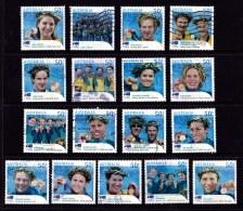 Australia 2004 Olympic Gold Medallists 50c Set Of 17 Used