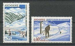 ANDORRE N° 175/176 ** Neufs MNH Superbes Cote 4.90 € Sports D' Hiver Ski Stations Soldeu Pas De La Casa