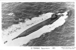 """"""" Le Térrible """" - SOUS-MARIN - 1971 Edit. Marius Bar Phot. TOULON - Sous-marins"""