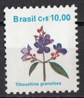 2176 Brasile 1989 Fiori Flowers Flora Indigena Tibouchina Granulosa Nuovo