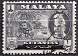 MALAYA KELANTAN   1953  GRANDE BRETAGNE    Cocotier  Copra Et Portrait Du Sultan   1v.