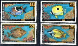 WF 1992 Serie N. 430-431 E 1993 Serie N. 457-458 Pesci MNH Cat. € 8.90 - Wallis E Futuna