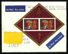 CANADA 1998 - Anno CINESE Della TIGRE  - BF. N. 23  Usato Su Busta - Cat. ? € - Lotto N. 38