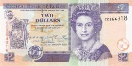 BELIZE   2 Dollars   1/1/2002   P. 60b   UNC - Belize