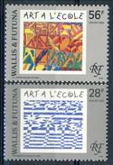 WF 1993 N. 445 E N. 459 Arte A Scuola MNH Cat. € 2.70 - Wallis E Futuna
