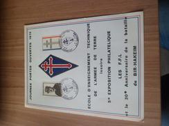 Grande Carte  Souvenir  Général De Gaulle  N° 1695 Portes Ouvertes Issoire Le 02/07/1972 Bir Hakeim Et FFL  EETAT    TB