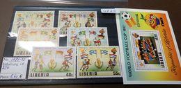 Liberia 1981 - Mi-Nr. 1187-1192  Block 96  Fußball  Soccer  MNH ** Postfrisch   #4720