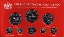 TRINIDAD & TOBAGO - Mint Set 1982 FM INDEPENDENCE ANNIVERSARY  - KM#MS10 Orig. [Eight Very Rare Types] - Trinidad & Tobago