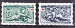 France  937 938 Croix Rouge 1952 Neuf Avec Trace De Charnière* TB MH  Con Charnela Cote 8