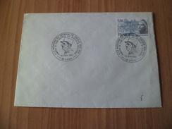 Lettre Avec Cachets A La Mémoire Du Général De Gaulle Lyon Capitale Des Réseaux De Résistance  8 Et 9/11/1980 N° 2092 TB