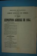 1864 Exposition Agricole De Chimay (programme Et Règlement) (31) - Programmes