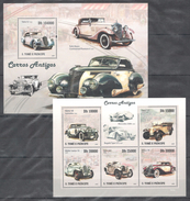 C159 2009 T S.TOME E PRINCIPE CARS HISTORICAL ANTIGOS CARROS MERCEDES  KB+BL MNH