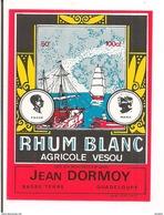 Etiquette Ancienne Rhum Blanc Agricole  Vesou - Jean Dormoy, Basse-Terre - GUADELOUPE - - Rhum