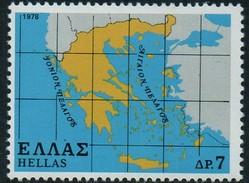 PIA - GRECIA. - 1978 : Carta Della Grecia  -   (Yv 1322-24) - Grèce