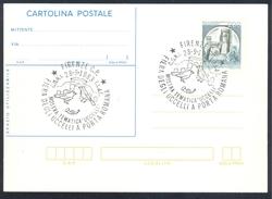 Italy 1983 Postal Stationery Card: Birds Oiseaux Vogel Uccelli: Architecture Porta Romana Firenze; Castle Rocca Schloss