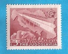1950  599 AUTO AUTOBAHN  JUGOSLAVIJA JUGOSLAWIEN MNH