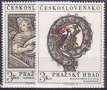 ** Tchécoslovaquie 1971 Mi 2002-3 (Yv 1850-1), (MNH)