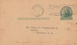 CARTOLINA POSTALE VIAGGIATA DA PHILADELFIA 1930 (PUBBLICITA' SUL RETRO NEURO FOSFATO ESKAY) (VP215