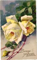 "STYLE KLEIN ROSES JAUNE ""BONNE ANNEE REF 51014 - Fiori"