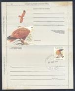 Australia 1984 Postal Stationery Letter Card: Birds Oiseaux Vogel: Australian Kestrel (Falco Cenchroides) Falke Falcon